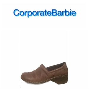 Born Concept Leather Clogs